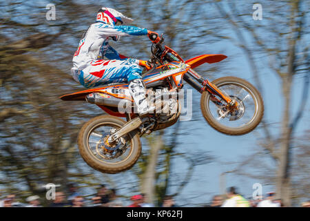 Brad Anderson on the Verde Sports Racing KTM MX1 at the Maxxis British Motocross Championship, Lyng, Cadders Hill, - Stock Photo