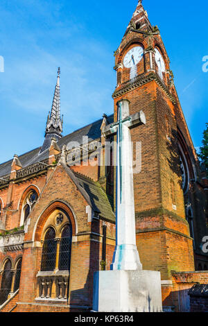 The chapel of Highgate School, a co-educational independent day school, founded in 1565, in Highgate, London, England, - Stock Photo