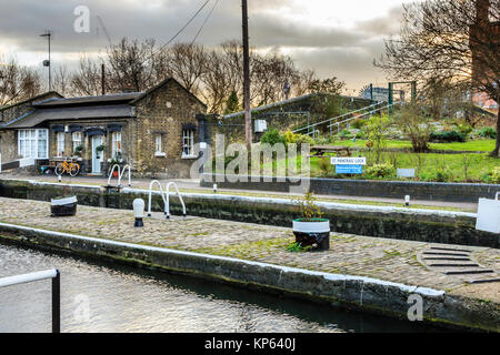 St Pancras Lock on Regent's Canal, London, UK, 2012 - Stock Photo