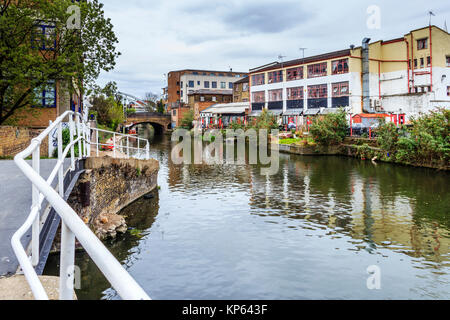 Canalside Studios, Orsman Road, seen from the opposite side of Regent's Canal, Shoreditch, London, UK - Stock Photo