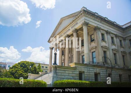 The United States Custom House in the historic district, East Bay Street, Charleston, South Carolina, USA, on a - Stock Photo