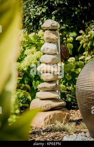 Steinpyramide - stone pyramid - Stock Photo