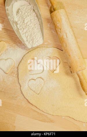 Kekse backen - baking cookies - Stock Photo