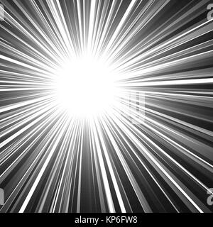 abstract rays. explosion effect. vector graphic illustration - Stock Photo
