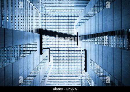 Abstract Architecture Atrium - Stock Photo