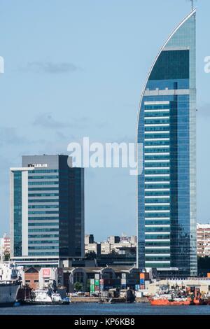 Telecommunications Tower (Torre de las Telecomunicaciones), Antel Tower (Torre Antel), Montevideo, Uruguay, South - Stock Photo