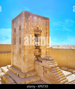 Ka'ba-ye Zartosht is the ancient tower, located in Naqsh-e Rustam Necropolis, probably it was used as the Zoroastrian - Stock Photo