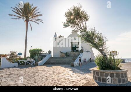 Chiesa del Soccorso (church), Forio, Ischia, Italy - Stock Photo