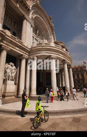 People in front of the Palacio De Las Bellas Artes-Palace Of Fine Arts, Mexico City, Mexico, Central America - Stock Photo