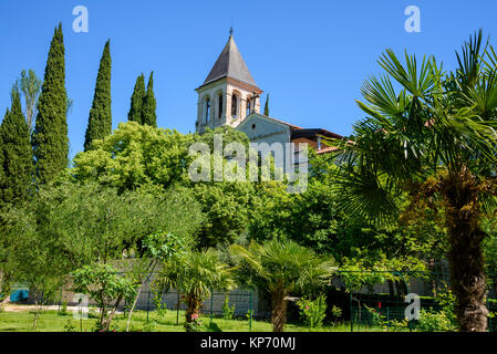 Monastery on Visovac Island, Krka National Park, Croatia - Stock Photo