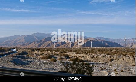 Windmills near Palm Springs - Stock Photo
