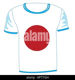 t-shirt flag japan - Stock Photo
