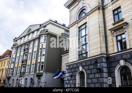 Exterior of the former NKVD and KGB prison cells in Tallinn, Estonia, Europe. During and after the Second World - Stock Photo
