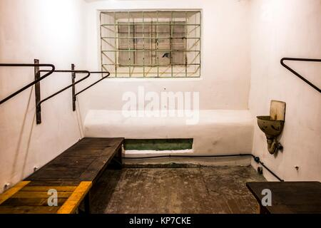Interior of the former NKVD and KGB prison cells in Tallinn, Estonia, Europe. During and after the Second World - Stock Photo