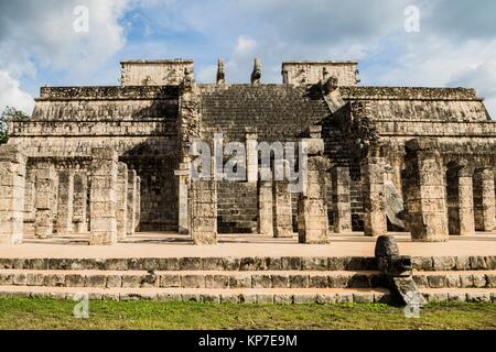 Temple of the Warriors, Chichen Itza, Mayan archaeological site, Yucatan State, Mexico. - Stock Photo