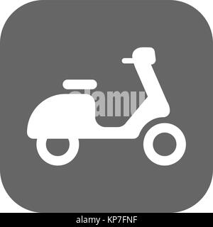 scooter icon isolated on background. Modern flat pictogram, business, marketing, internet concept. Trendy Simple - Stock Photo