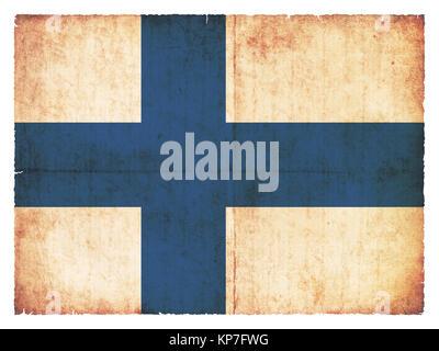 grunge flag finland - Stock Photo