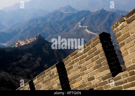 Badaling section of The Great Wall, China, Asia. - Stock Photo