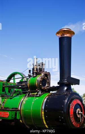 Vintage steam traction engine - Stock Photo