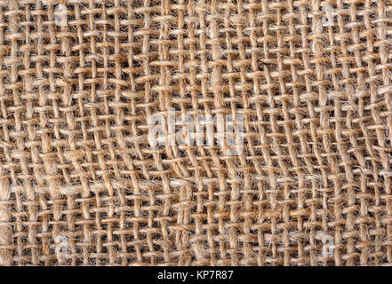 Closeup of sackcloth texture - Stock Photo