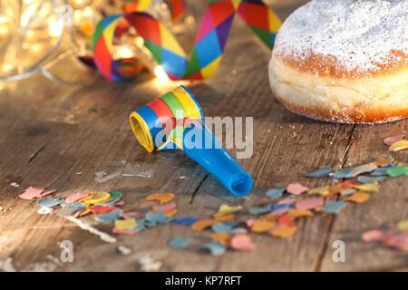 delicious donuts for mardi gras - Stock Photo