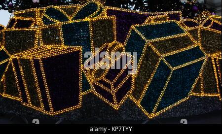 Christmas in Lodz poland - Stock Photo