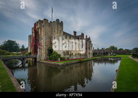 Hever Castle near Edenbridge, the seat of the Boleyn family, Kent, United Kingdom - Stock Photo