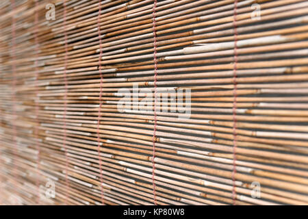 Bamboo blind for background - Stock Photo