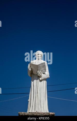 White historic figure statue in the center of Harput, Elazig, Turkey - Stock Photo