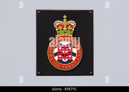The badge of the Border Protection Squadron (UK Border Force), carried on HMC Active, a 20m coastal patrol vessel - Stock Photo