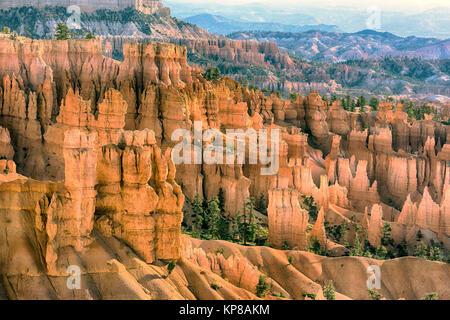 Sunset at Bryce Canyon National Park - Stock Photo