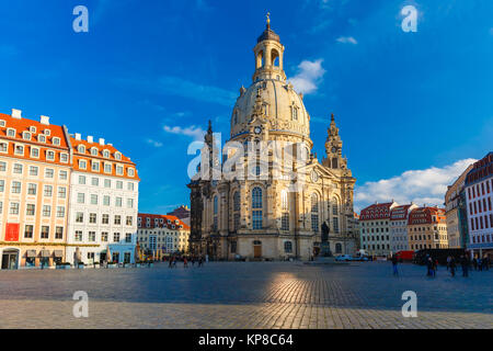 Frauenkirche in the morning, Dresden, Germany - Stock Photo