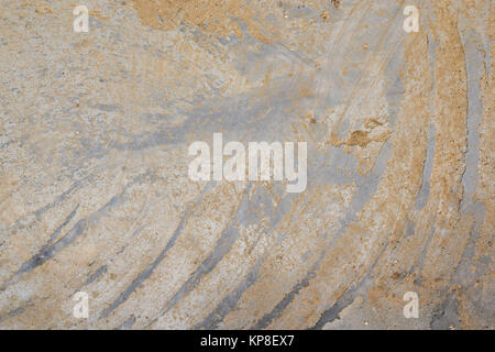 Concrete with dirty diagonal strokes on cement - Stock Photo