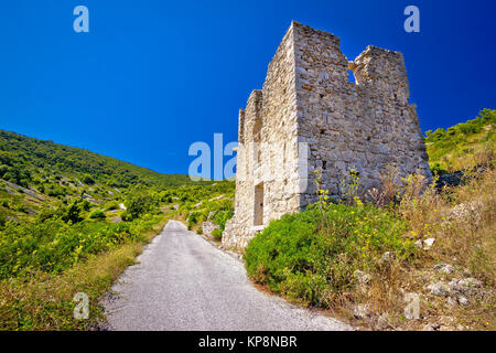 Island Vis military zone old guard tower