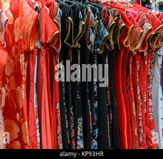 Traditional Chinese clothing in a shop - Stock Photo
