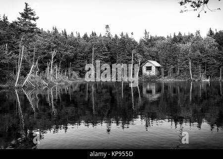 Cottage at the lake - Stock Photo