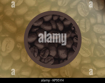 Circle Of Coffee Beans - Stock Photo