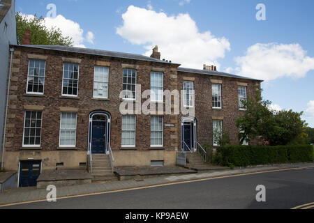 Victorian terrace houses in Old Elvet, Durham, England, UK - Stock Photo