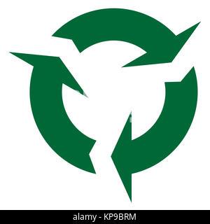 Circular Recycle Sign - Stock Photo