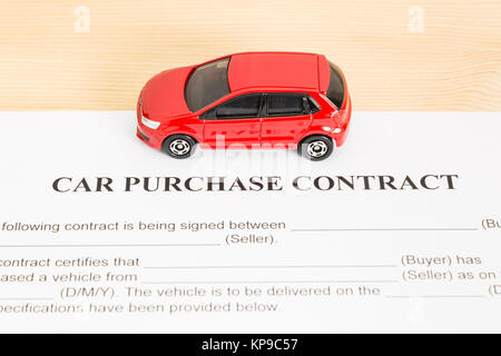 car purchase contract