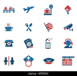 Airport icons - Stock Photo