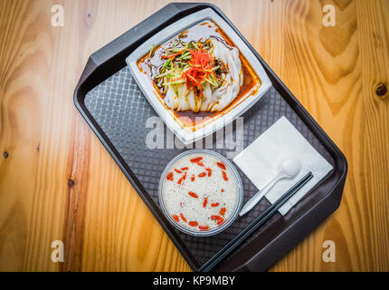 Traditional Chinese food ,cold rice noodles. - Stock Photo