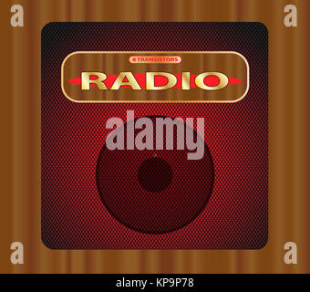 Old Transistor Radio. - Stock Photo
