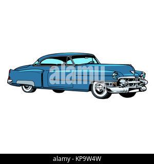 Retro blue car classic abstract model - Stock Photo
