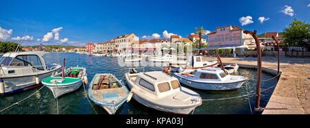 Stari Grad waterfront summer view - Stock Photo