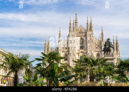 Duomo of Milan, (Milan Cathedral), Italy. - Stock Photo