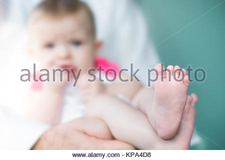 feet of a baby - Stock Photo