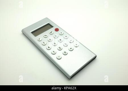 Electronic digital calculator - Stock Photo