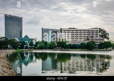 Apartment buildings in yangon myanmar stock photo for Modern house yangon