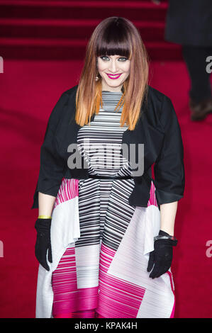 Ana Matronic (Scissor Sisters) attends the 'Star Wars: The Last Jedi' European premiere at Royal Albert Hall on - Stock Photo